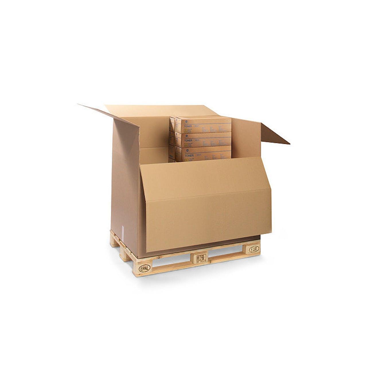 Palettencontainer, 1195 x 995 x 545 mm, 1 Industriepalette, 3-wellig