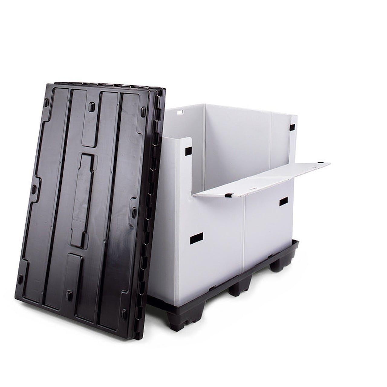 Kunststoff-Faltbox, Innenmaße L x B x H 1130 x 730 x 763 mm, 20 kg Gewicht