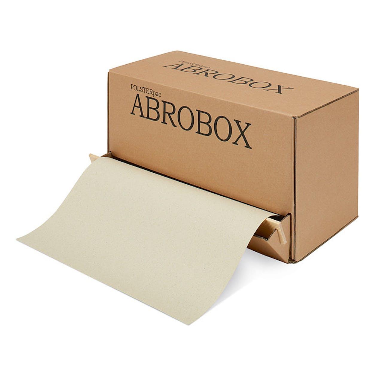 Graspapier-Packpapier in der Abrollbox