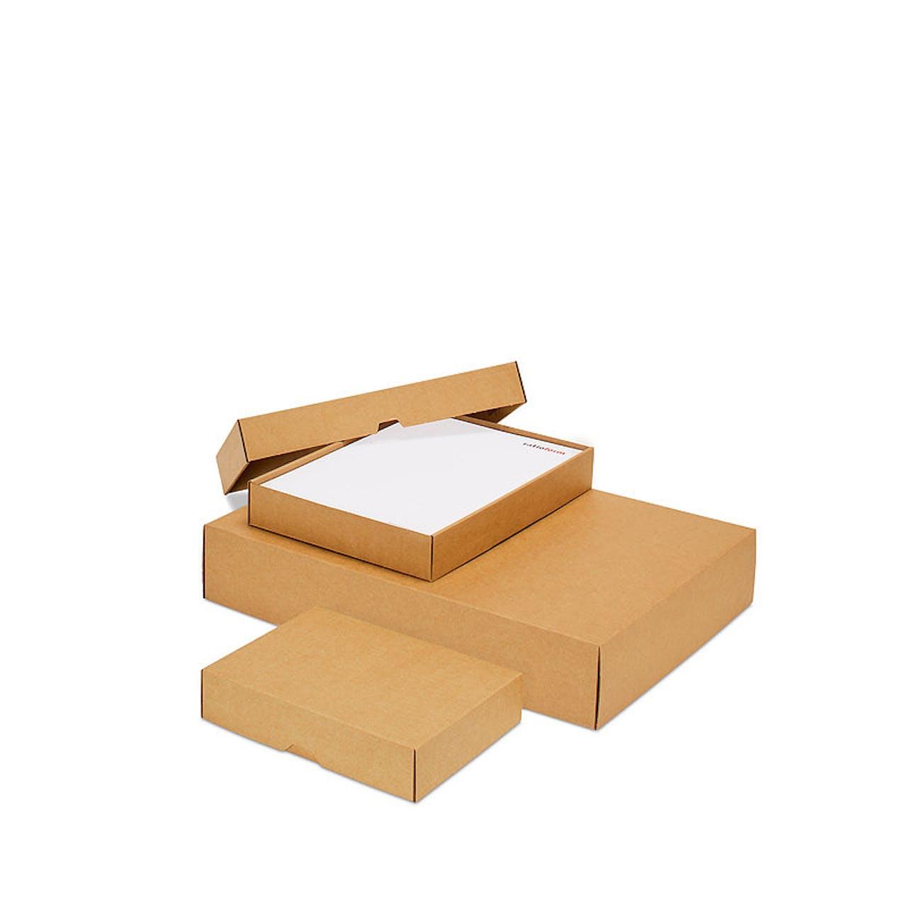 Stülpdeckelkarton, 214 x 151 x 45 mm, braun, DIN A5, 2-teilig (mit Deckel)