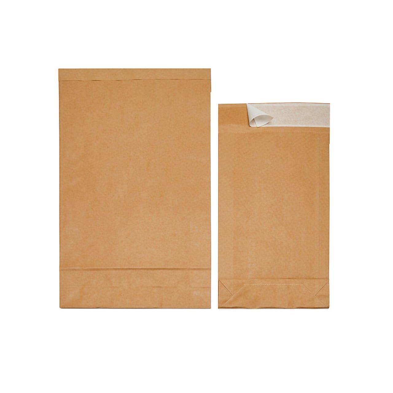 Natron-Papierfaltentasche mit Seitenfalte, 300 x 430 x 80 mm, DIN A3, 50 g/St.