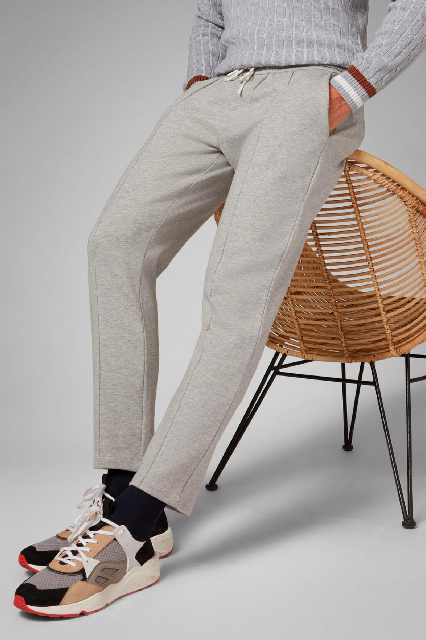Boggi Milano grey stretch cotton joggers BO20P010301