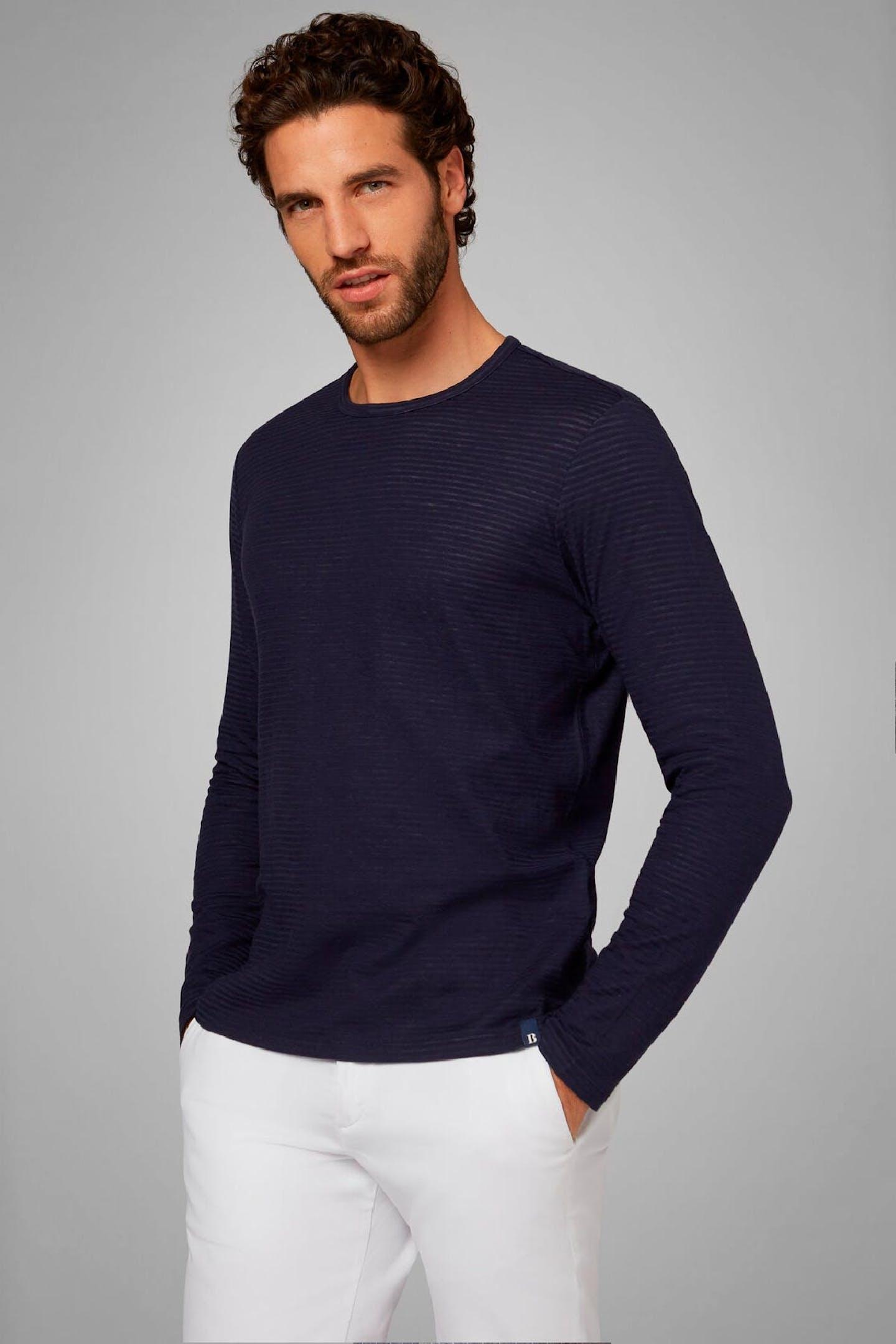 Boggi Milano navy blue cotton jersey T-shirt BO20P003601