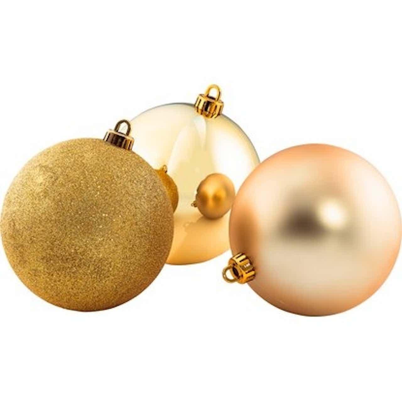 XXL koule na vánoční stromek průměr 20cm zlatá