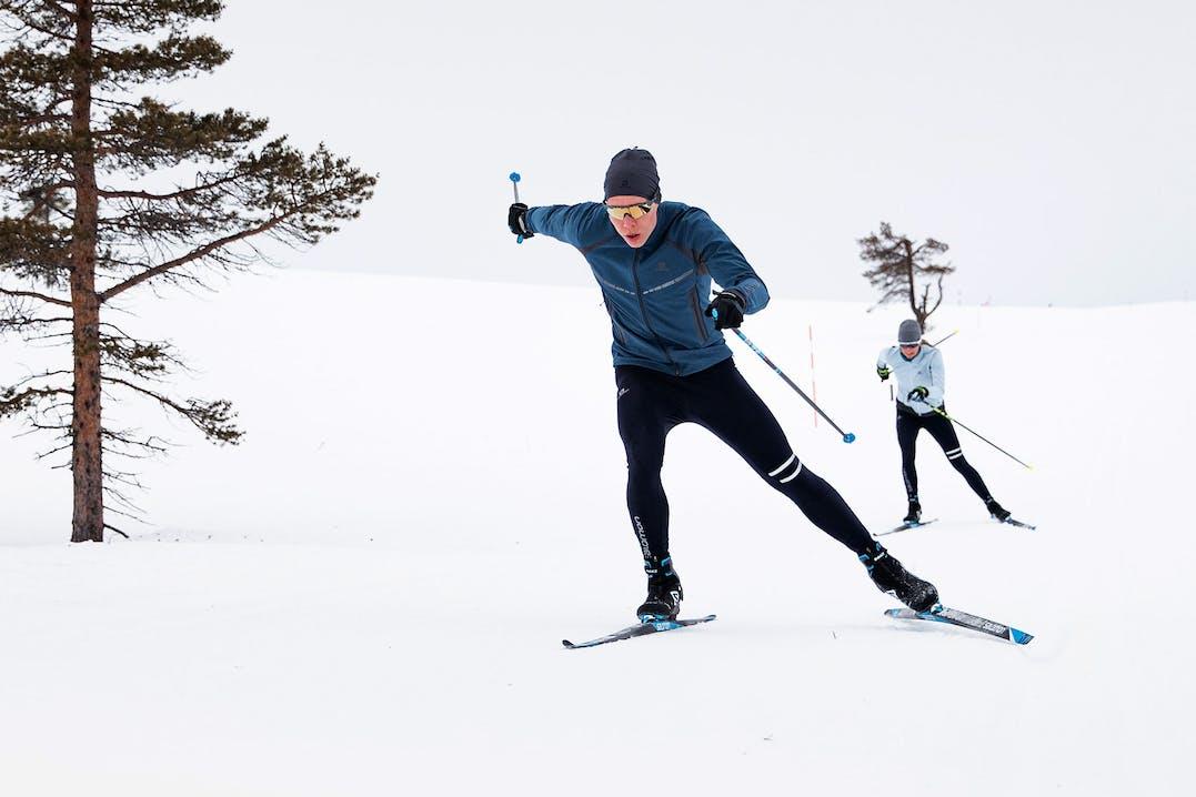 Skilangläufer in Action
