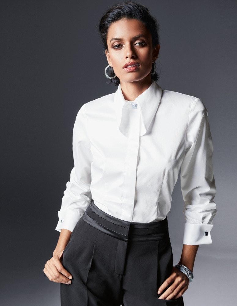 Festliche Bluse in edler Swiss-Cotton-Qualität