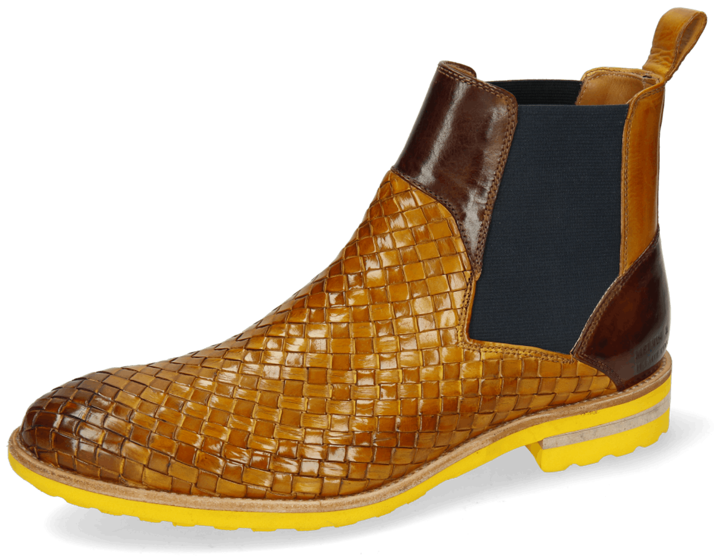 Brad 9 Woven Indy Yellow Mid Brown Elastic Navy