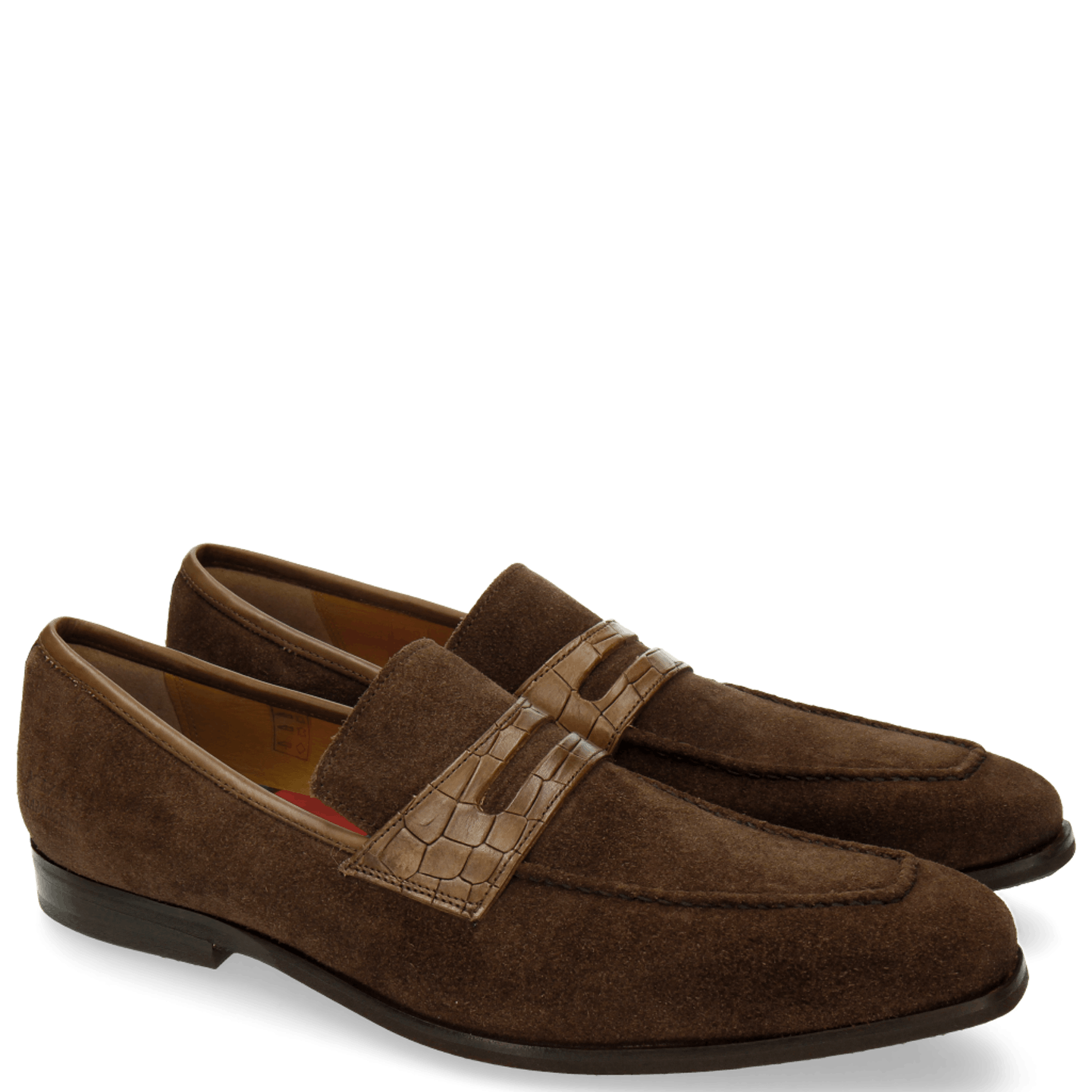 Lance 25 Suede Pattini Crock Dark Brown