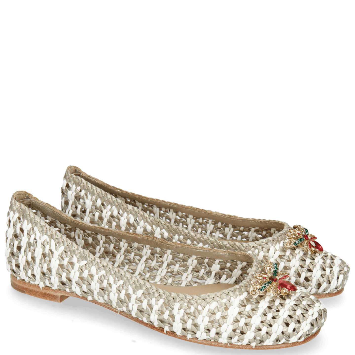 Kate 5 Woven Ash Raffia White Accessory Bee