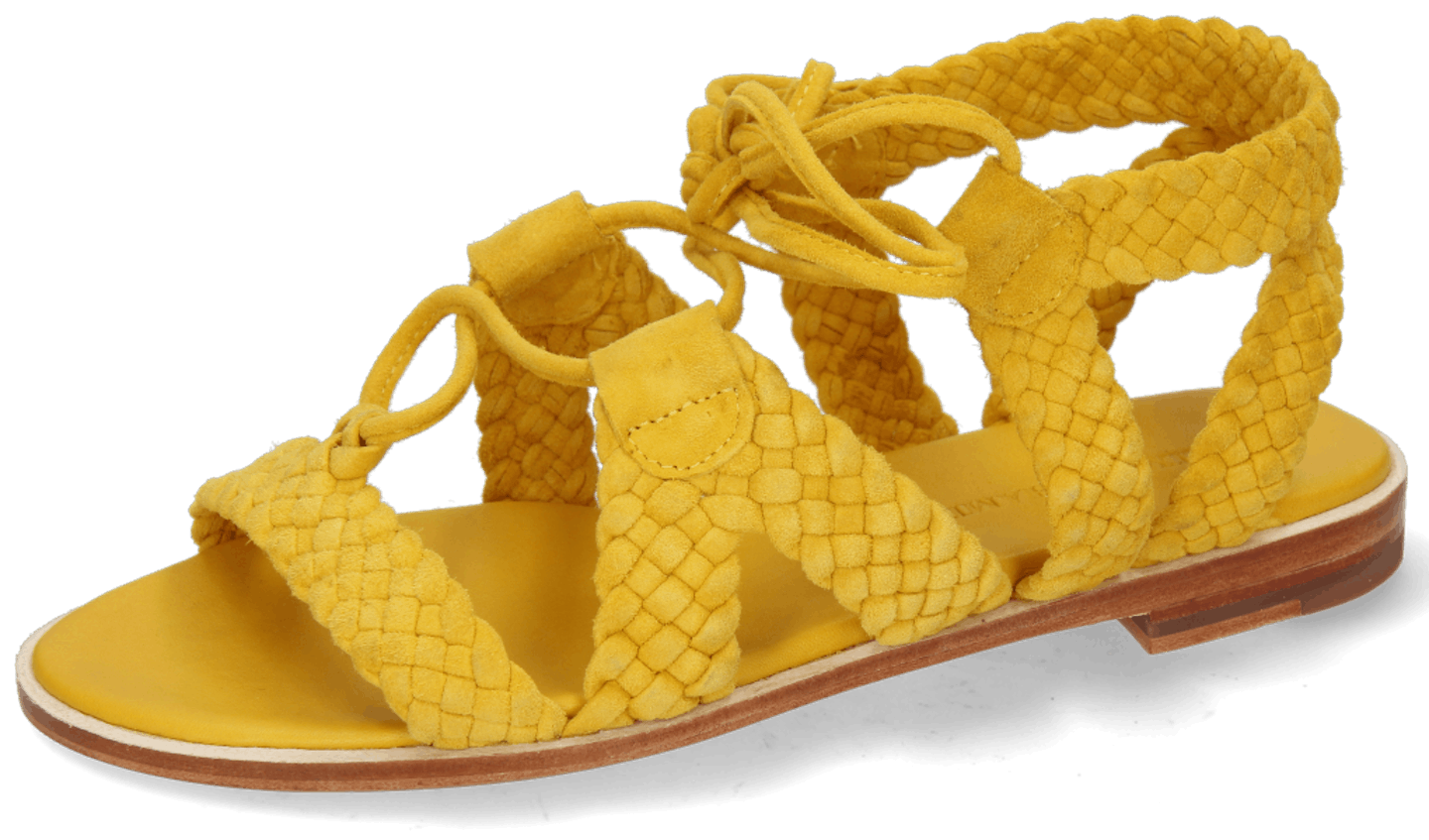 Sandra 11 Suede Chilena Woven Yellow Footbed