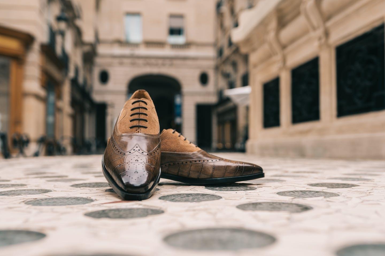 Chaussures Budapest Richelieu bout golf fleuri Lewis 15 Melvin & Hamilton