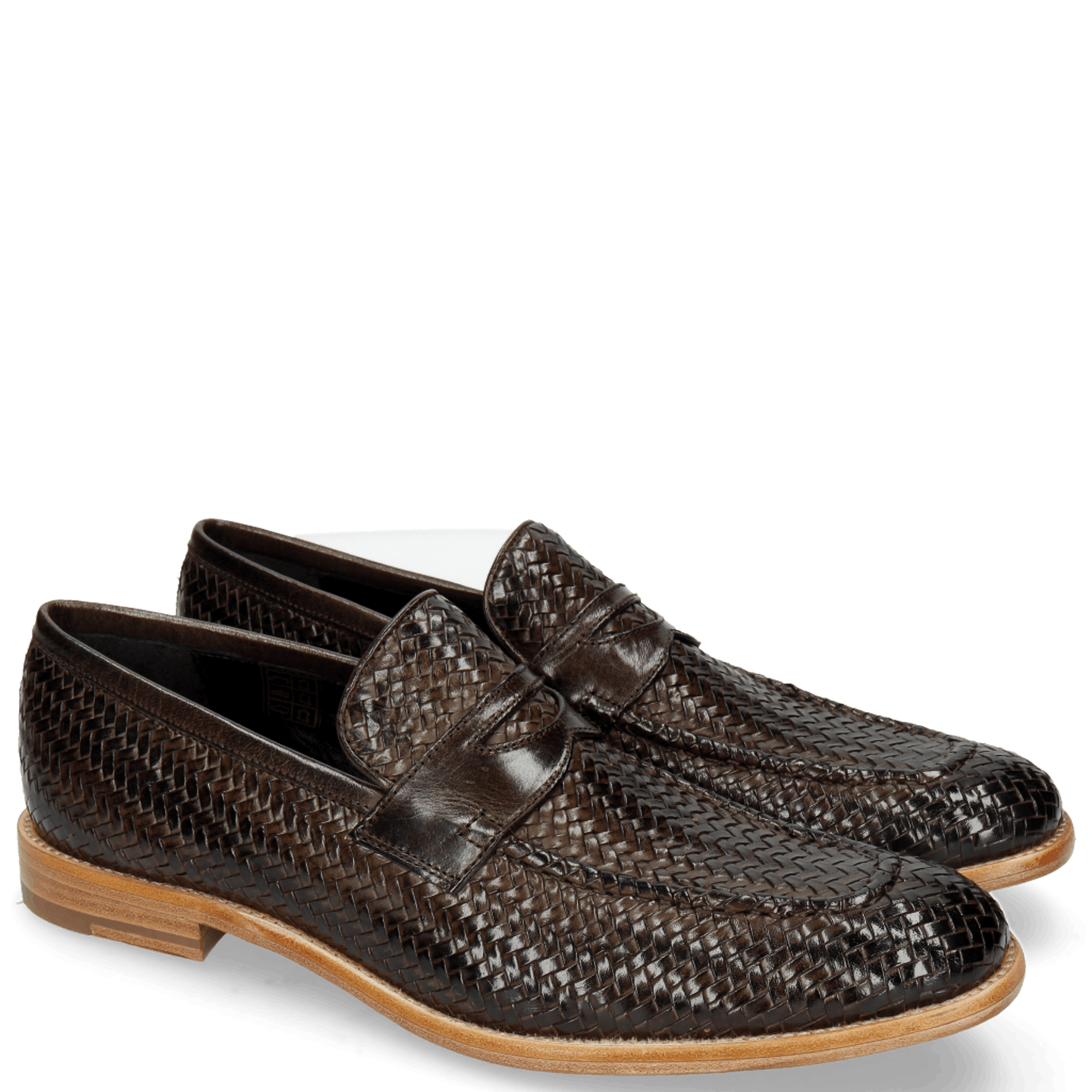 Eddy 44 Haring Bone Weave Dark Brown Lining Nappa