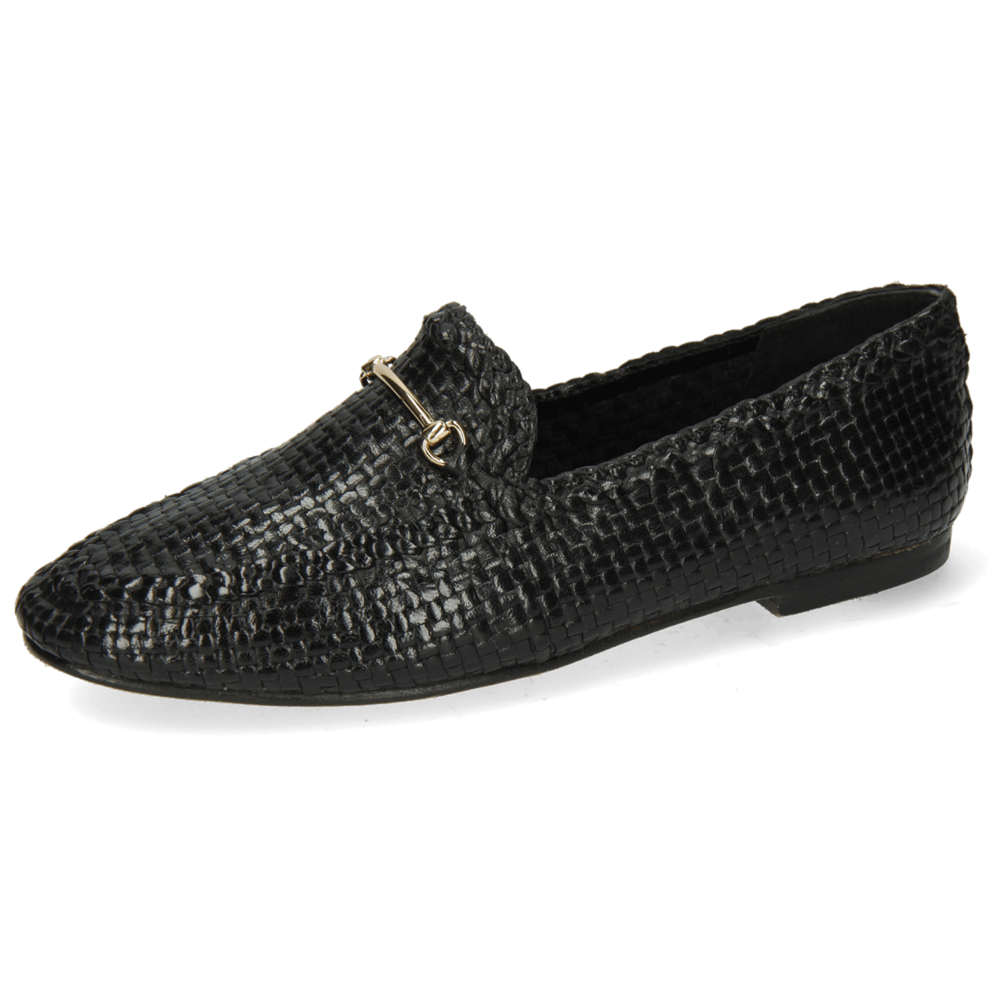Aviana 1 Woven Black Trim Gold