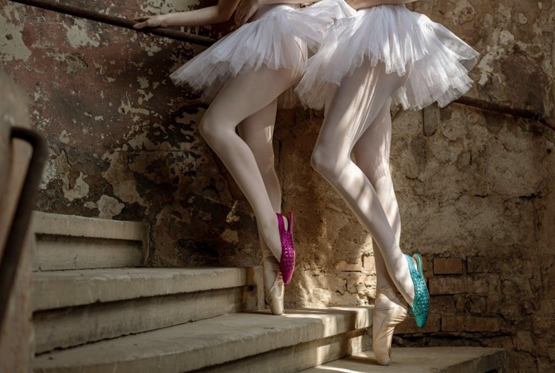 ballerine femme cuir