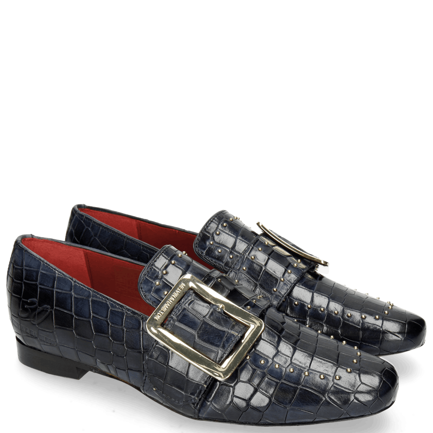 Luna 3 Crock Navy Rivets Gold