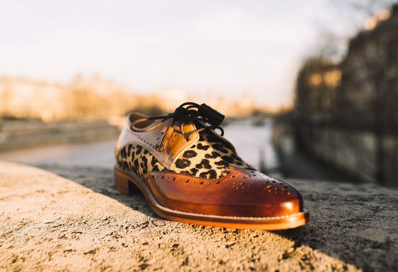 Budapest derbies chaussures bout golf fleuri Betty 3 Melvin & Hamilton