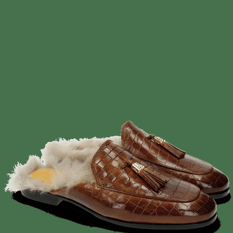 Clive 5 Crock Tan Tassel Tan MTC Gold