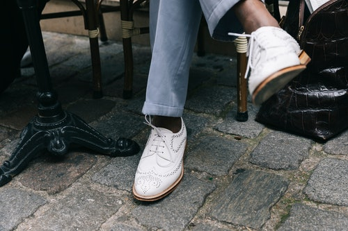 chaussures blanches, basket blanche
