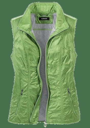 Froschgrüne Weste mit grauem Futter