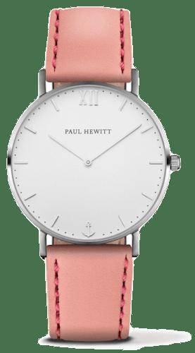 Montre PAUL HEWITT Femme avec Boîtier 36 mm et Bracelet en Cuir Rose