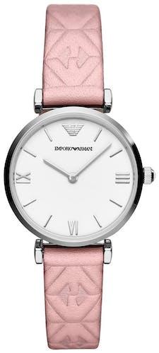 Cette montre EMPORIO ARMANI se compose d'un boîtier Rond de 32 mm et d'un bracelet en Cuir Rose