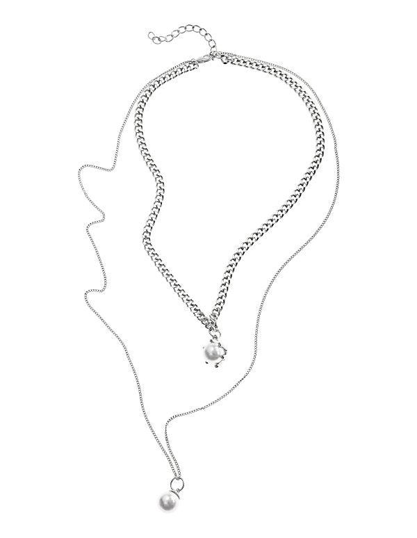 Metallkette mit Perlen-Anhänger