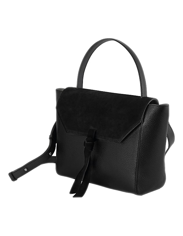 Ledertasche in edlem Material-Mix