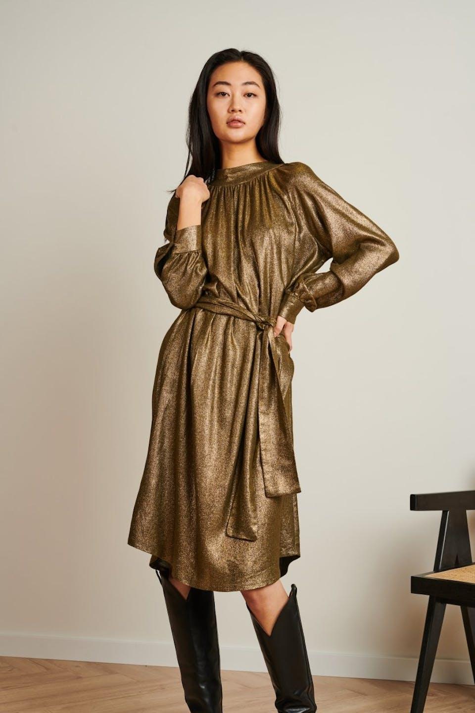Dress Grace | Gold metallic shiny