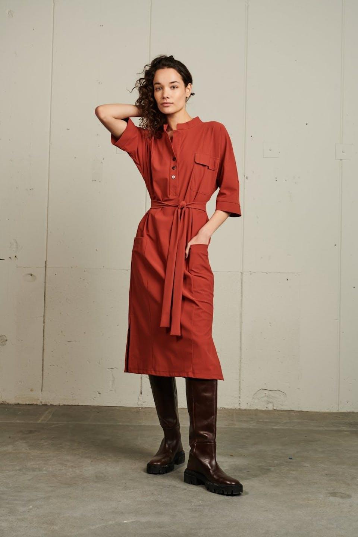 Dress Dakota Long | Brick