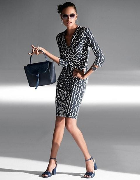 Jersey-Kleid im Wickel-Look