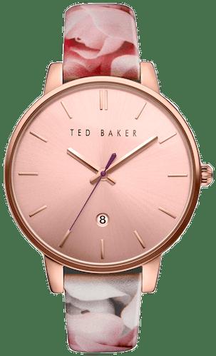 Cette montre TED BAKER se compose d'un Boîtier Rond de 42x48mm et d'un bracelet en Cuir Marron  -