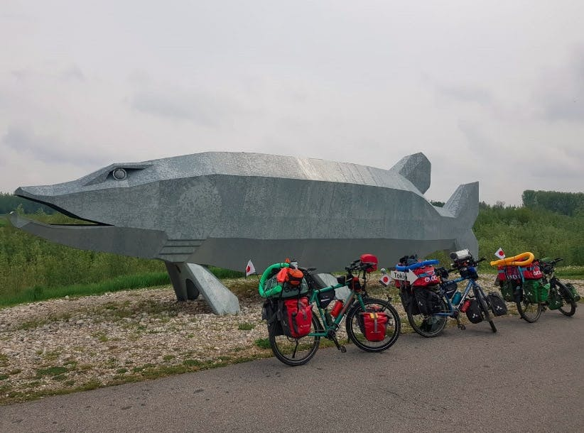 Fahrräder der Pasta Gorillas