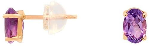 Ces Boucles d'oreilles CLEOR sont en Or 375/1000 Jaune et Améthyste Violette