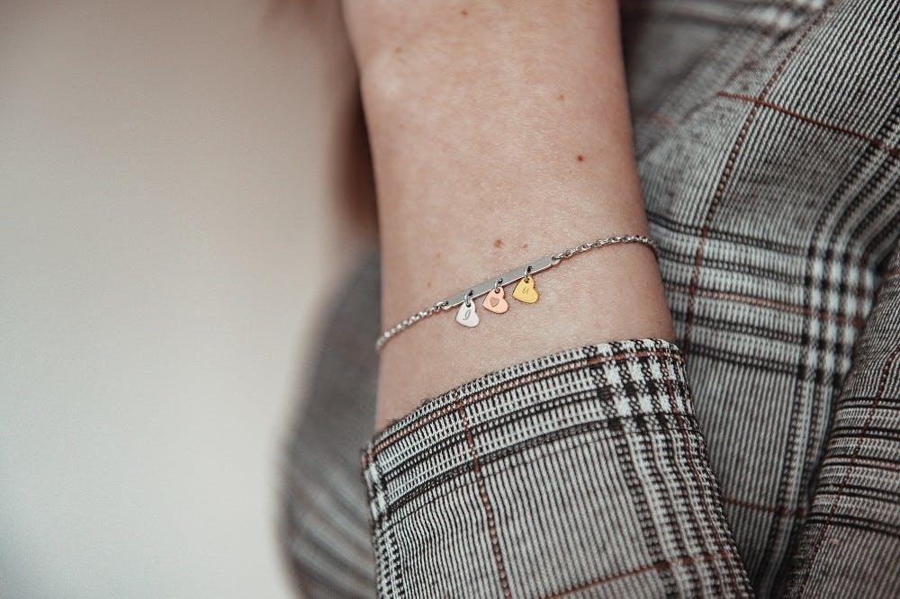 Bracelet CLEOR en Argent 925/1000 Tricolore
