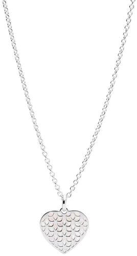 Ce Collier FOSSIL est en Argent 925/1000 Blanc et Nacre Blanc en forme de Cœur