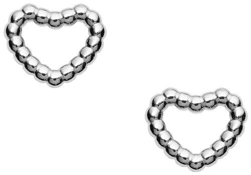 Ces Boucles d'oreilles FOSSIL sont en Argent 925/1000 Blanc et en forme de Cœur