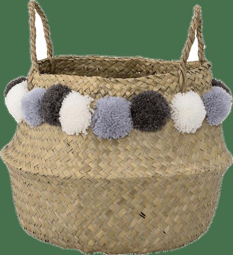 Bloomingville Korb mit Pompons