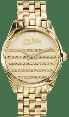 Montre JEAN PAUL GAULTIER Femme avec Boitier Rond 37 cm et Bracelet Acier Doré