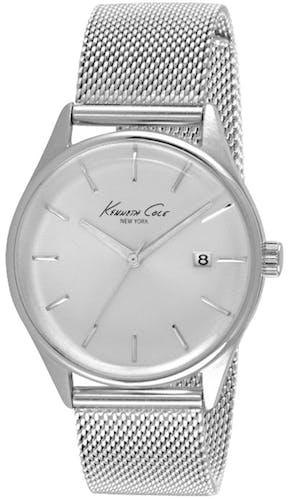 Cette montre KENNETH COLE se compose d'un Boîtier Rond de 35 mm et d'un bracelet en Acier Gris