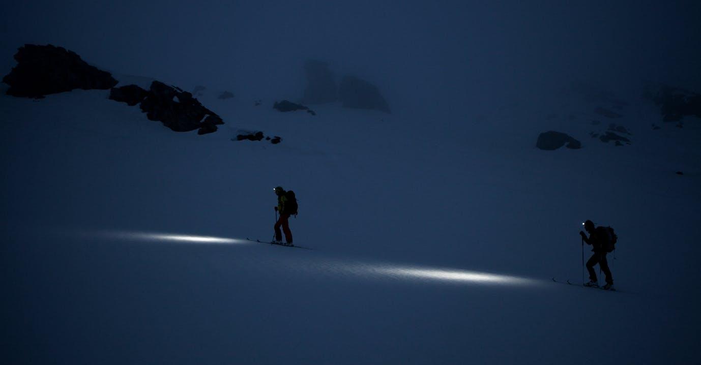 lampada frontale scialpinismo camminare  © Foto Tony Lamiche - Petzl