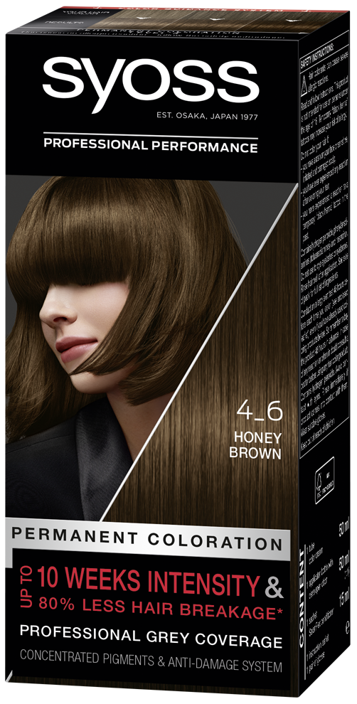 Syoss Permanent Coloration Honey Brown 4 6