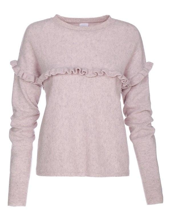 Boxy-Pullover mit Rüschen