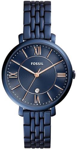 Cette montre FOSSIL se compose d'un Boîtier Rond de 36 mm et d'un bracelet en Acier Bleu