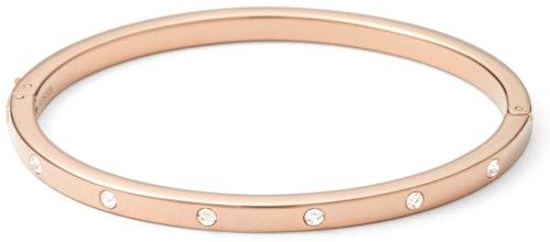 Ce Bracelet FOSSIL est en Acier Rose et Cristal Blanc
