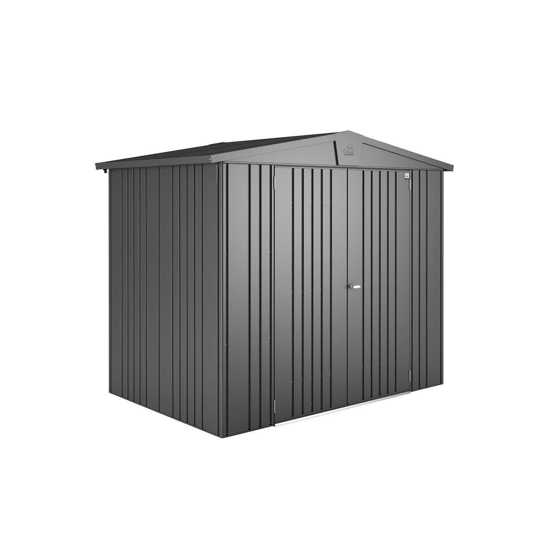 Biohort Gerätehaus Europa Größe 3 Dunkelgrau-Metallic B x T: 244 cm x 156 cm