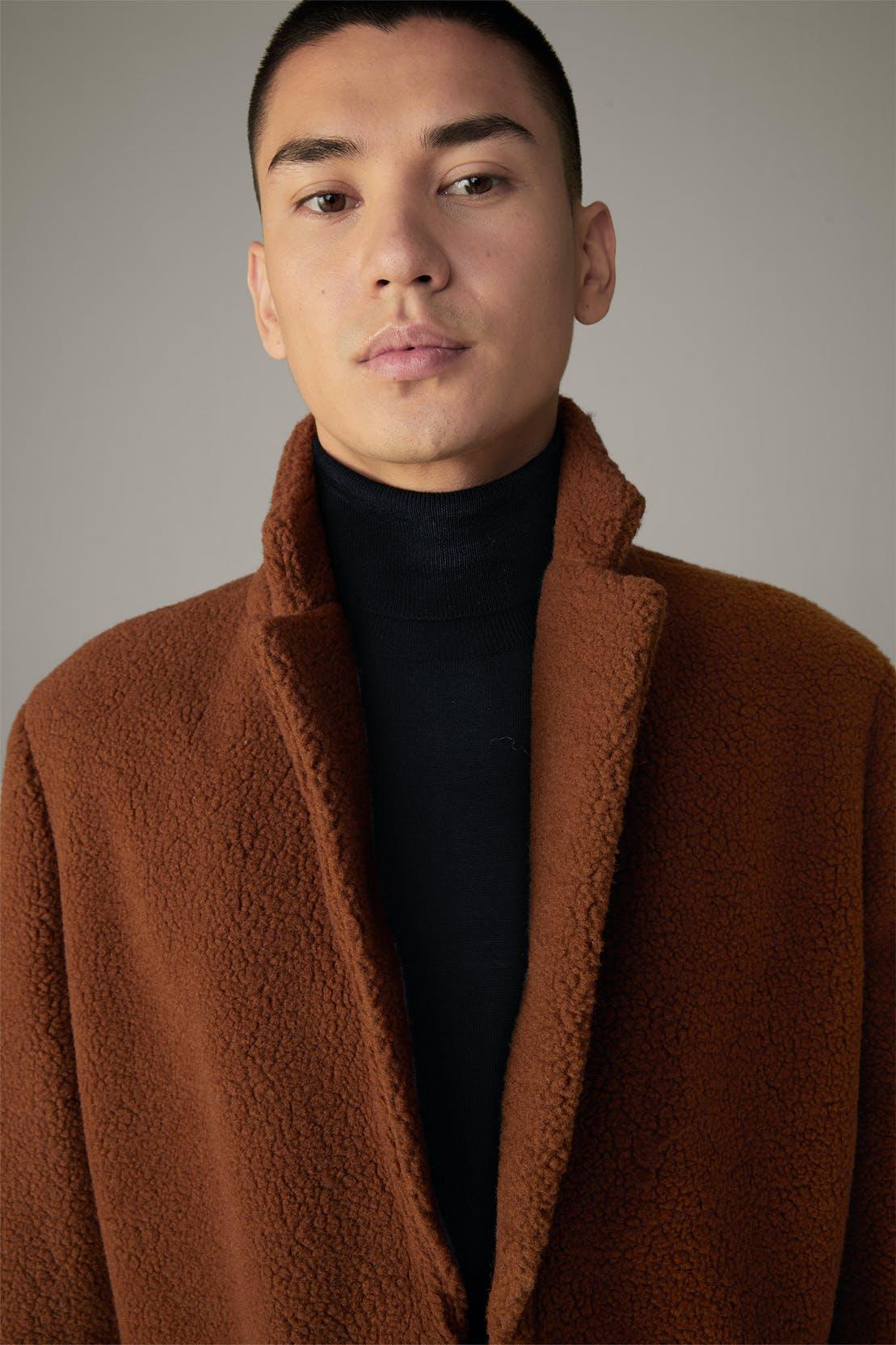 Manteau Adria Teddy, marron