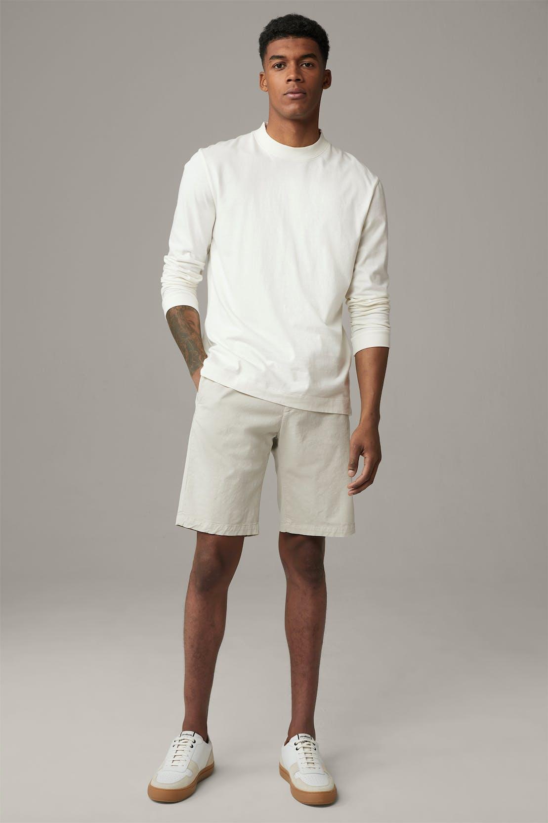 T-shirt à manches longues Flex Cross Leo, blanc cassé