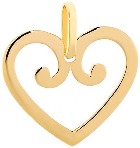 Ce Pendentif CLEOR est en Or 375/1000 en forme de Cœur