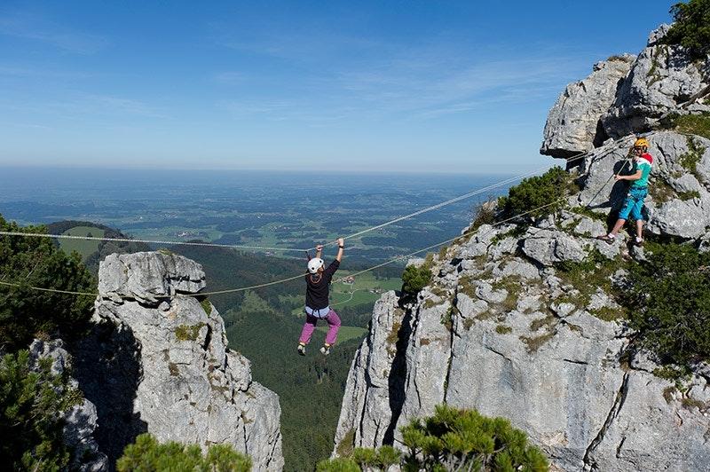 1.Für Ästheten mit starken Armen: Biwakplatz am Gederer Pfeiler in den Chiemgauer Alpen nahe der Kampenwand.