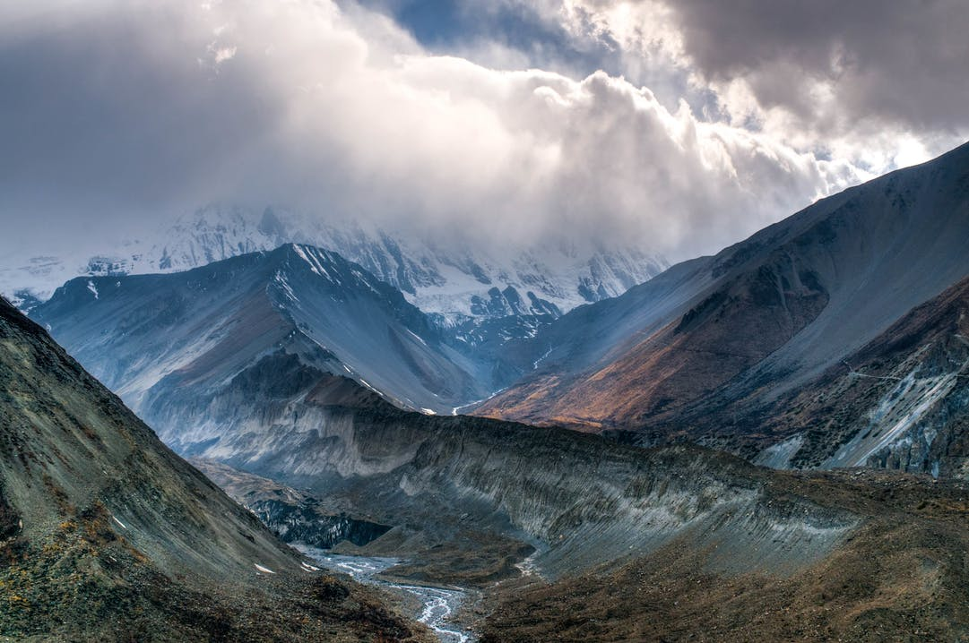 Berglandschaft im Himalaya